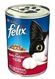 Felix Katzennassfutter in Soße (mit Rind und Truthahn) 24er Pack (24 x 400g) Dose