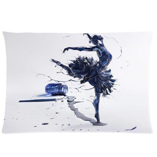 huirong Kissenbezüge Design 50,8x 76,2cm Dancing Ballett Mädchen (2) Kissen Displayschutzfolie, Best Kissen, eine Seite Druck