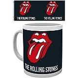 Set: Rolling Stones, Logo Foto-Tasse Kaffeetasse (9x8 cm) Inklusive 1x 1art1® Überraschungs-Sticker