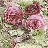 20 Servietten 25 x 25 cm Rosen Blumen Geburtstag Vintage Blumenmotiv