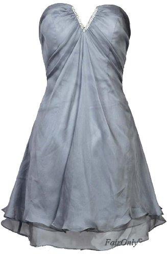 Robe mousseline courte appliquée cristales drapée Argent