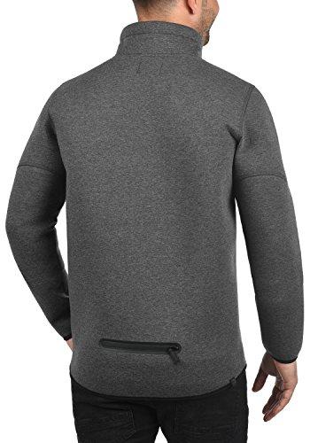 BLEND Wooby Herren Übergangsjacke Sweatjacke mit Stehkragen aus einer hochwertigen Baumwollmischung Charcoal (70818)