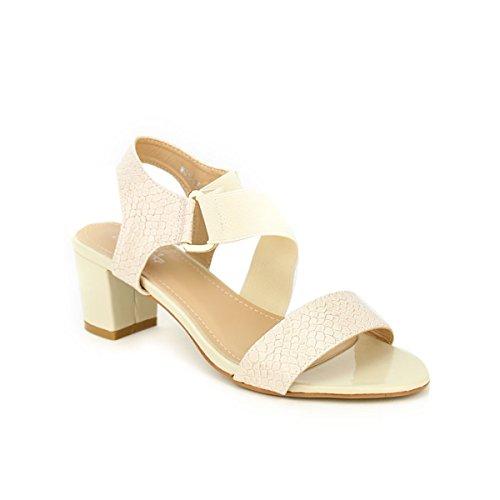 Cendriyon, Sandale Beige OMODA Chaussures Femme Beige