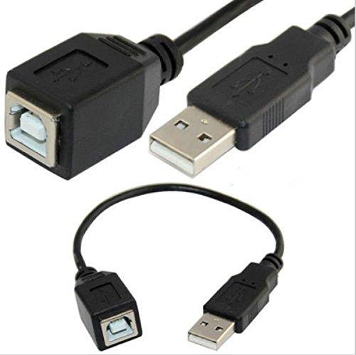 20cm USB 2.0Typ A männlich auf USB Typ B weiblich-b Printer Scanner Kabel (Usb Typ B Weiblich)