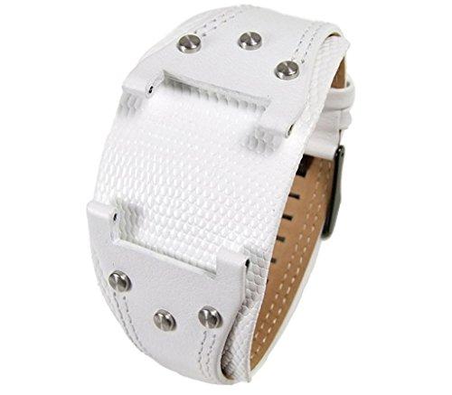 Police Glory Herren | Men Ersatzband Uhrenarmband Leder weiß P.11598JS-LB1-1, P11598