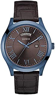 Guess Dress Watch for Men, Stainless Steel Case, Brown Dial, Analog -W0792G6