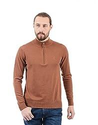 Arrow Sports Mens Cotton Sweater (SW AS FFS REG ORG HOZ SOL A13ASSPSW019O2_Me. Orange_Small)
