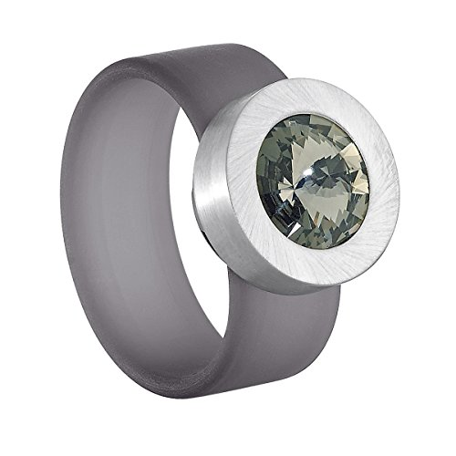 Heideman colori grau Gr.70 swarovski kristall black diamond 10 mm (Ringe Diamond Black)