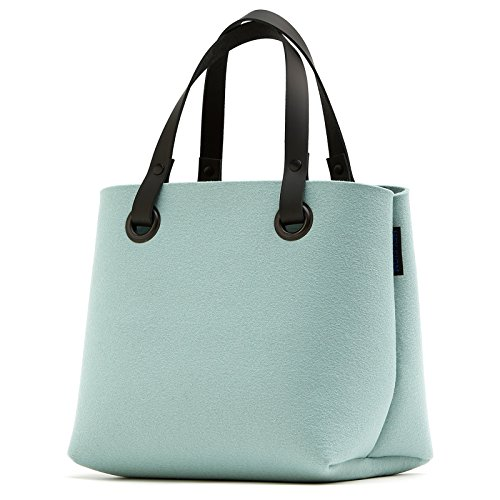 Kleine Tasche + Leder Tragegriffe viele Farben Hey Sign MIA, Hey Sign_Farbe:08 - Graphit 301563108 10 - Blau