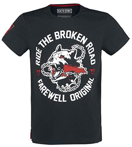 Days Gone Broken Road T-Shirt schwarz XL