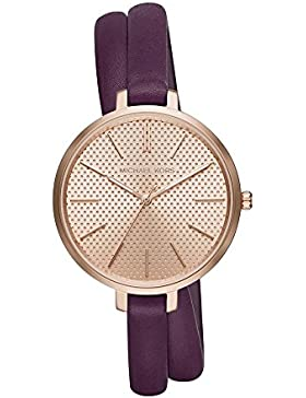Michael Kors Damen-Armbanduhr Analog Quarz One Size, rosé, violett