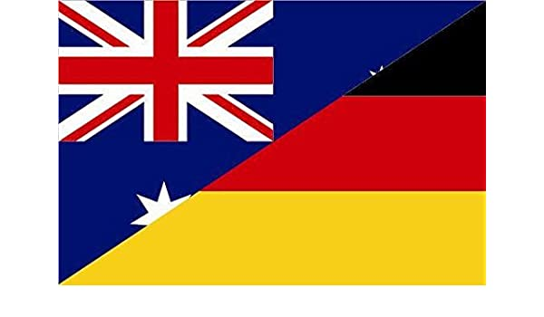 Aufkleber Australien-Deutschland Flagge Fahne 12 x 8 cm Autoaufkleber Sticker