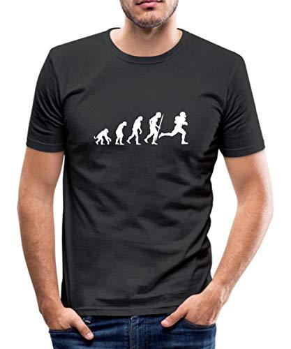 Evolution_American_Football_v Männer Slim Fit T-Shirt, XL, Schwarz