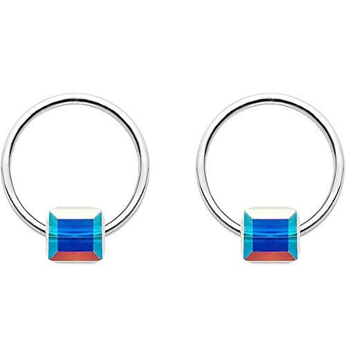 Earrings Home Silberohrringe aus Sterlingsilber, Ohrringe, weibliche Kore-Drama-einfache Zuckerohrringe, hypoallergene Ohrringe, Silber, Einheitsgröße