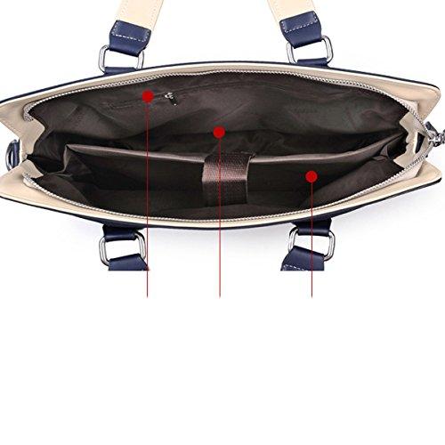 Wasserabweisend Oxford Groß Geräumig Mit Mehreren Abteilungen Geschäftsleben Aktenkoffer Schultertasche Mehrere Compartments Black