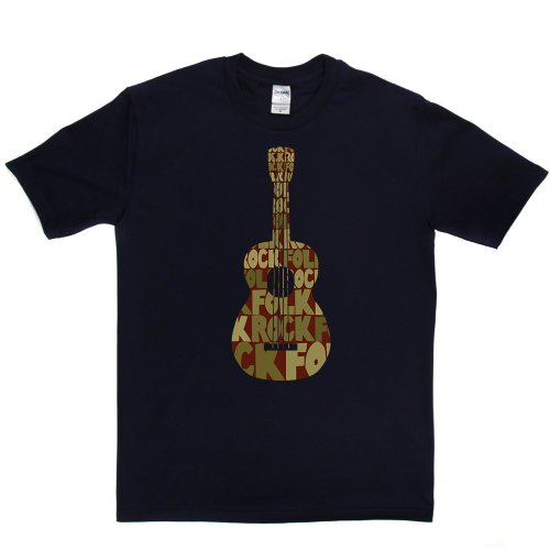 Folk Rock Music Genre Country T-shirt Marineblau
