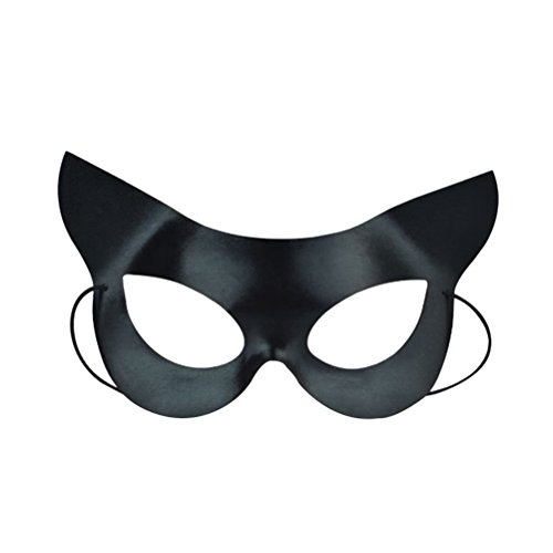 Ball Maske Half Face Catwoman Maske für Halloween Maskerade Kostüm Party Ball Kostüm (Schwarz) ()