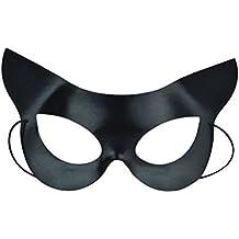 LUOEM Máscara de Black Eye Half Face Catwoman Máscara Disfraces de Halloween para disfraces de Halloween Disfraz de bola de fiesta de disfraces