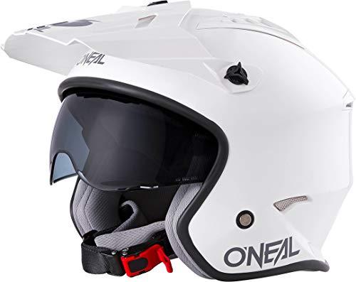 Oneal Volt Helmet Solid White L (59/60 cm) Casco Moto MX-Motocross, Adulti Unisex