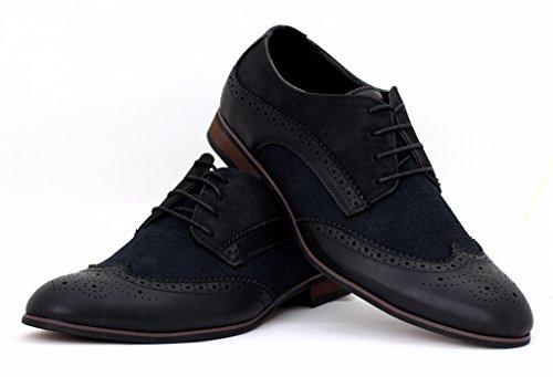 Hommes Brogue élégant Chaussures De Bureau Décontracté Robe Mariage Fête UK taille Noir