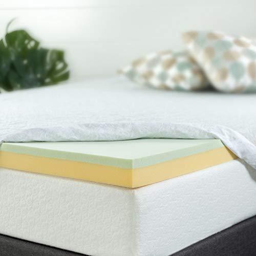 Zinus 5,1cm grün Tee Memory Foam Matratzenauflage, Queen, 3 Inch, Queen -