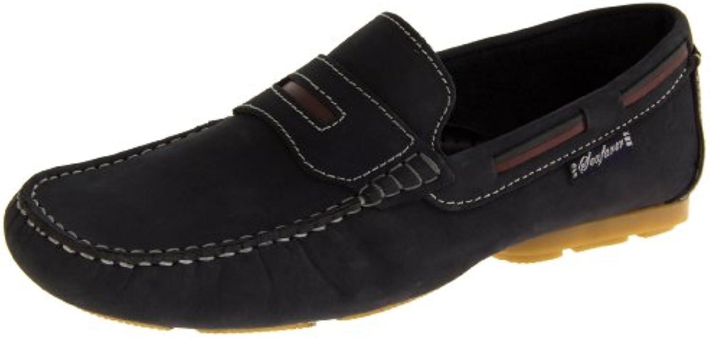 Footwear Studio - Náuticos de forro: fibra sintética para hombre blue/navy/navy blue/tan