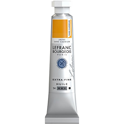 Lefranc & Bourgeois extra feine Lefranc Ölfarbe (hochwertige Künstlerpigmente) 20 ml Tube - Gelb Kadmiumfrei (öl-farbe Gelb)