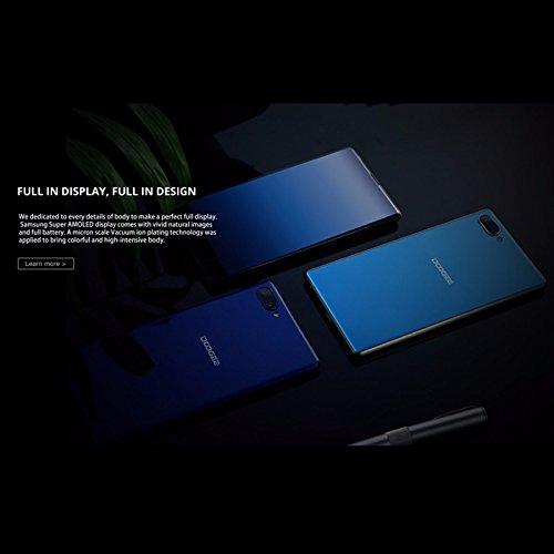 Doogee MIX 13,97 cm (5,5 Zoll) Smartphone (6GB RAM 64GB ROM Android 7.0 4G Helio P25 Octa-Kern 2,5 GHz Metallgehäuse Berührungssensor Front- und Doppel Rückkameras) Blau - 8