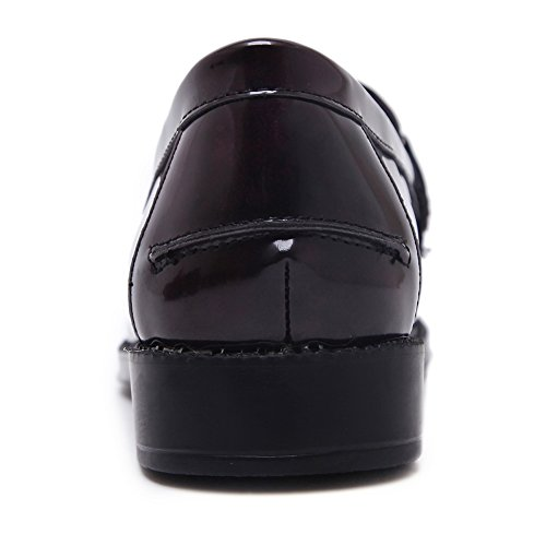 Adeesu Claret Oxford Chaussures Pour Femmes
