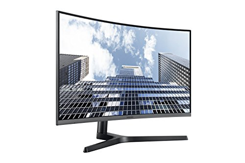 Samsung LC27H800FCUXEN 27-Inch Curved Full HD Monitor - Black Silver