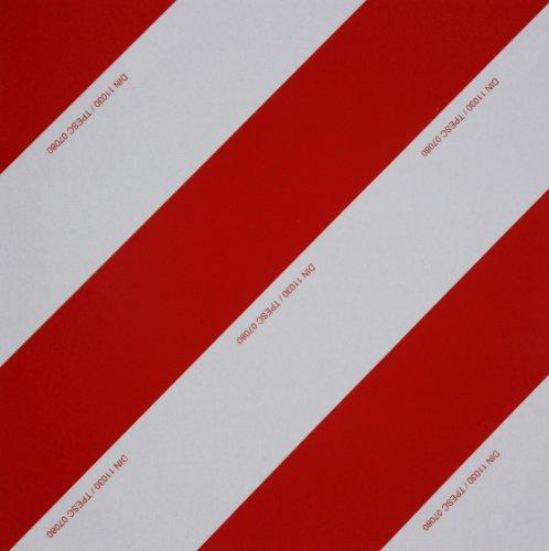 Preisvergleich Produktbild WAMO Warntafel 423 x 423 mm DIN11030 TPESC Zulassung linksabweisend