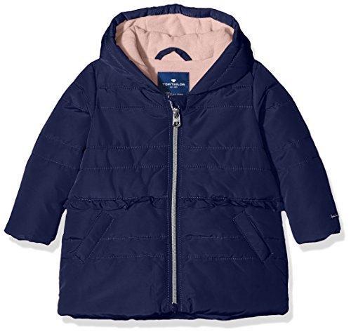 TOM TAILOR Kids Baby-Mädchen Jacke Rich Details Puffer Jacket, Blau (Soft Mid Blue 6349), 80 (Herstellergröße: 80)