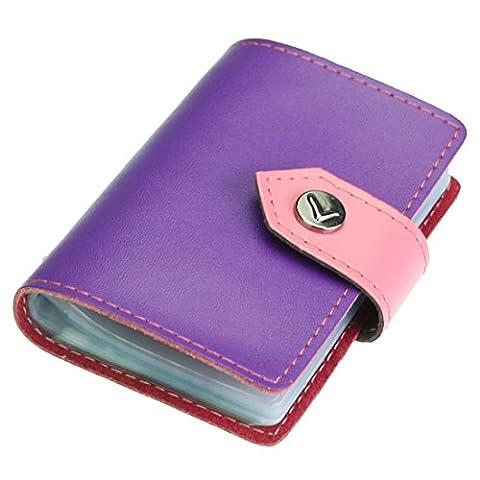 kilofly Porte-cartes–Style Livre avec poches Carte 26–Colton, avec pince Mini carte cadeau incluse taille unique violet