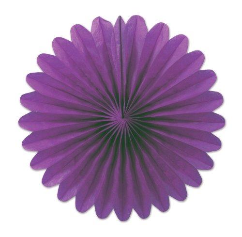 (Purple) - Beistle 54137-PL 15cm 6-Pack Tissue Fans, Mini