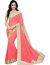 45eb024fc292a Effigy onlinehub Women s Chiffon Saree with Blouse Piece(Zecard Patta)