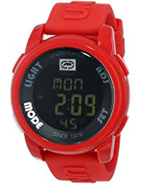 Marc Ecko Men's The 20-20 Watch E07503G4 with Black Dial and Red Resin Strap