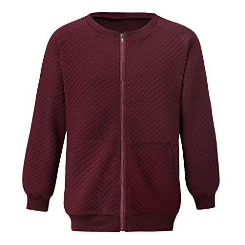Mann Kostüm Gipsy - Zolimx Herren Langarm Pocket Zip Grid Sweater Jacke, Männer Warme Winter Langarm Pullover Taschen Sweatshirt Top Tee Outwear Bluse