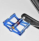 JFF Mountainbike Aluminiumlegierung DREI Palin Pedal Leichtes Rennrad Lager Pedal Pedal (blau)