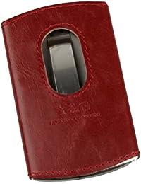YDA01A Tarjeta de acero inoxidable cuero titular de la caja de regalo varios colores por Y&G