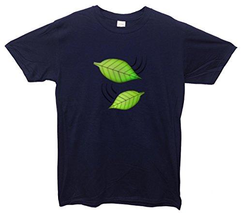 Grün Leaves Emoji T-Shirt Navy