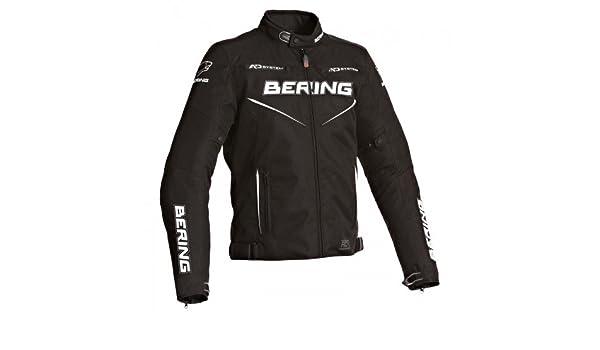 Bering Blouson moto ONYX EVO Noir//Blanc Taille S