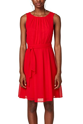 ESPRIT Collection Damen Partykleid 028EO1E018, Rot (Red 630), 38