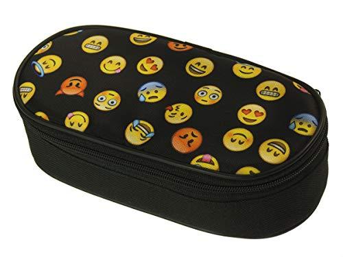 Premio astuccio scuola oval interno organizzatore portapenne matita della penna box emoji nero [086]
