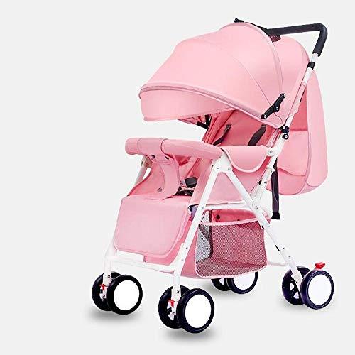 Littlefairy Kinderwagen,Baby Kinderwagen Licht Portable Faltbare Kinder Trolley-einfache Fahrt in eine stützende Regenschirm