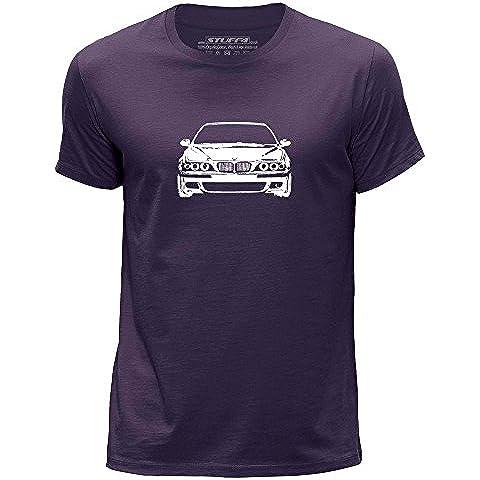 STUFF4 Uomo Girocollo T-Shirt/Plantilla Coche Arte / M5 E39