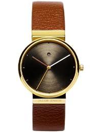 Jacob Jensen Damen-Armbanduhr Dimension Series 854 Analog Leder Braun 854
