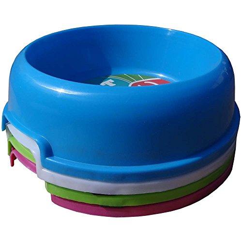 Waschbares Flauschi Tierbett mit Kuscheleinlage für Hund, Katze & Haustier, Größe XL in 90 x 70 x 20cm, innen braun, außen beige inkl. Fressnapf - 6