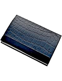 STRIPEMATE Card Holder,crocodile Work On Leather,black Leather,card Holder For Man And Woman,stylish,fashionable...