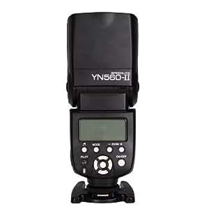 YONGNUO YN-560 II ELECTRONIC SPEEDLIGHT SPEEDLITE FLASH FLASHGUN With The Standard Hot Shoe for Nikon , Canon , Fuji , Olympus , Pentax , DSLR Digital Camera by eimo