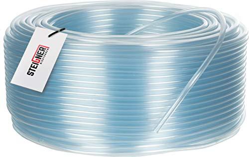 STEIGNER Benzinschlauch Wasserschlauch PVC Schlauch Transparent, Durchmesser: 4-7 mm, Länge: 1 m, SBS-03-1